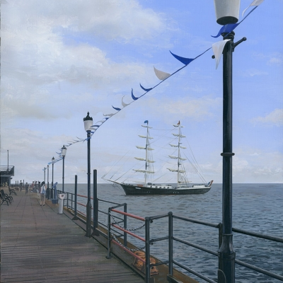 1612 Southend Pier: Arrival of Tall Ship
